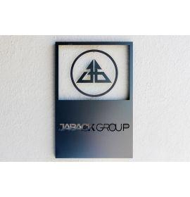 Brushed Aluminum Logo Sign | Aluminum Signs