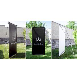 Custom Vertical X banner stand